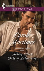 carole mortimer's zachary black duke of debauchery